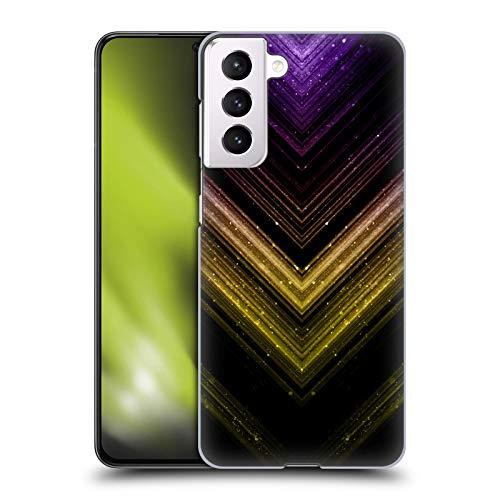 Head Case Designs Licenza Ufficiale PLdesign Ombre Oro E Porpora Metallico Scintillante Cover Dura per Parte Posteriore Compatibile con Samsung Galaxy S21 5G