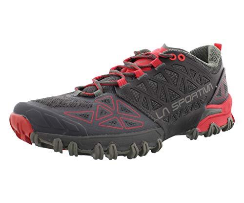 La Sportiva Women's Bushido II Trail Running Shoes, Carbon/Hibiscus, 38