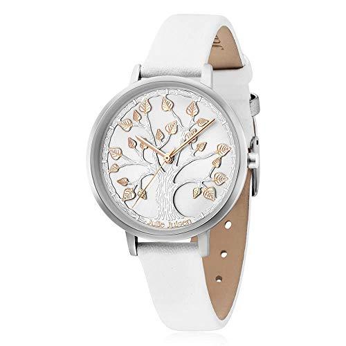Julie Julsen Damen Quarz Armbanduhr - Lebensbaum Tree of Life Silber White JJW101SL-9