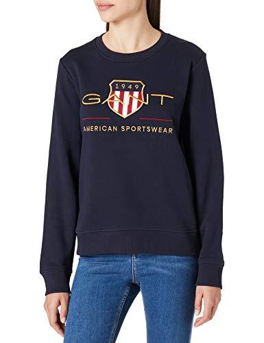 GANT Damen Archive Shield C-Neck Sweat Sweatshirt, Evening Blue, M