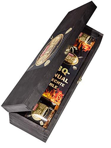 Eppers BBQ-Master-Box | 5 trendige, exklusive und qualitativ hochwertige Grillgewürzsorten in einer edlen Holzbox