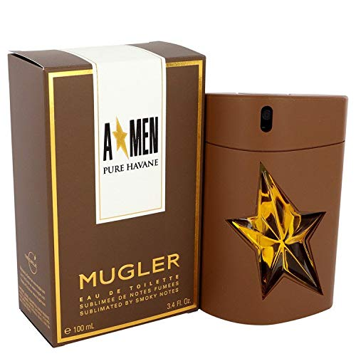 Thierry Mugler Eau de Toilette Spray, Angel Men Pure Havane, 3.4 Ounce