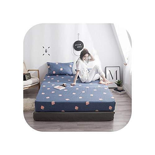 Star Harbor Gemütliche Laken 1 Stück Baumwolldruck Bettmatratze Set mit Vier Ecken und Gummibändern-Meixilan-160X200X25cm