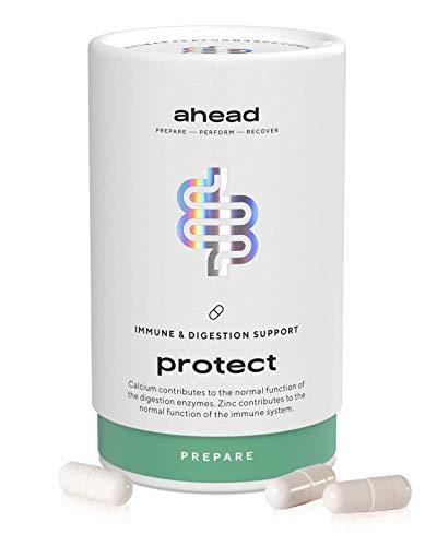 ahead PROTECT I Kulturen-Komplex mit 18 Darmbakterien + Inulin - 90 vegane & magensaftresistente Kapseln für die Darmflora - Milchsäurebakterien-Stämme mit Zink fürs...