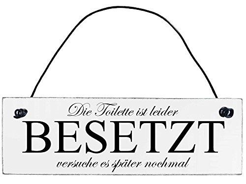 Anika Hermsen-Grallert, HomeYourself Shabby Chic Vintage Schild Toilette besetzt Dekoschild Türschild