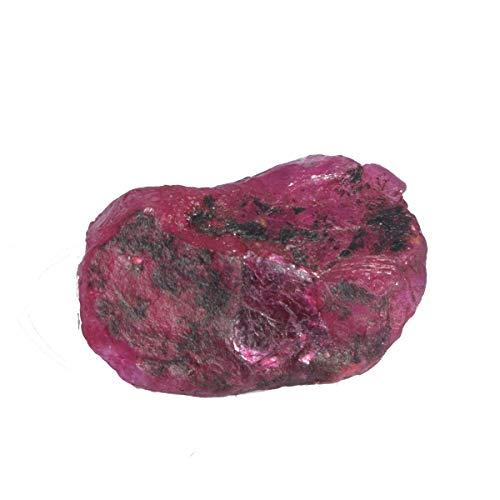 Gemhub Fabulous ! 29,00 Karat natürlicher roter Rubin unbehandelter Roh-Edelstein mit Ei Zertifiziert DS-421