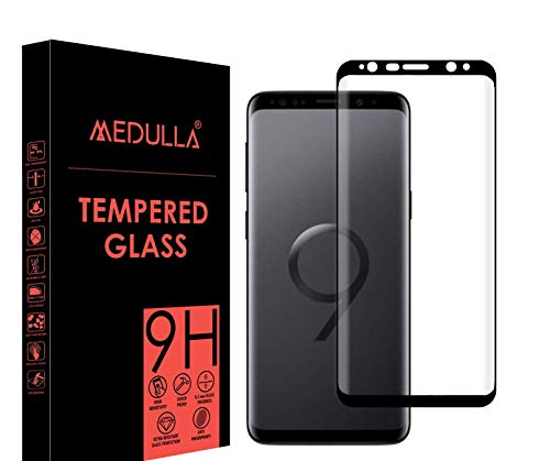 Medulla Edge to Edge Full Glue Curved Edge Tempered Glass Screen Protector for Samsung S9 Plus