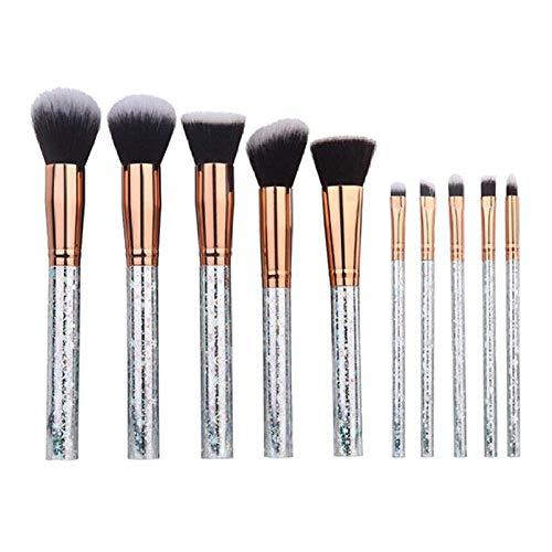 GONGFF Pinceau de Maquillage Set Multifonctionnel Visage Shadow Eyeliner Foundation Blush Lèvres pinceaux de Maquillage Outil, Multicolore