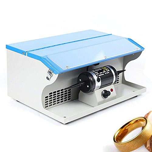 TFCFL Dust Collector Bench Top Polisher Polishing Buffing Machine Tabletop Jewelry Making Polisher Buffer Dust Collector with Light 8000RPM 110V 200W (US Plug)