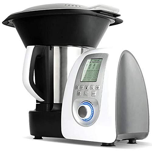 Gridinlux | Robot de Cocina Multifunción | 14 Funciones 19 Programas | Incluye Báscula | Jarra Acero Inoxidable 3,5 L | Vaporera 2 Niveles | 10 Velocidades | Máxima Seguridad | Accesorios y Recetario