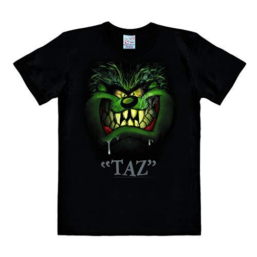 Logoshirt - Looney Tunes - Taz - Portrait - Easyfit - T-Shirt - Herren - schwarz - Lizenziertes Originaldesign, Größe XXL