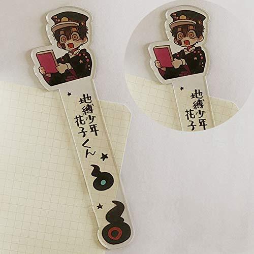 SOSPIRO Anime Toilettengebundene Hanako-Kun Lesezeichen, Manga Acryl Lesezeichen Ideales Geschenk für Freunde und Familie(Style 02)