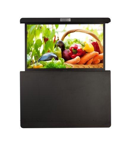 Hot Sale medialifTV Weatherproof Automated 55-Inch TV Lift Enclosure, Medium Rear Mount, Texture Black