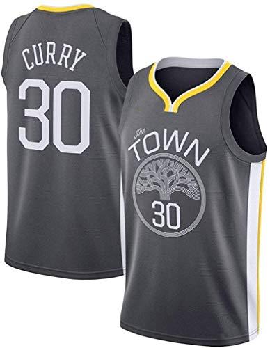 KOP Stephen Curry # 30 Jersey de Baloncesto, Golden State Warriors Swingman Jersey Sin Mangas (Negro, L)