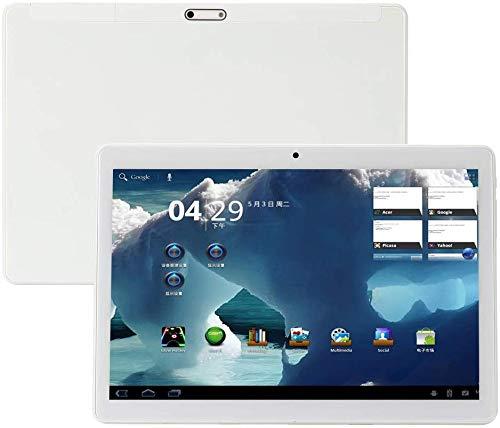 4G LTE Phablet 10.1 Inch Tablet Android 9.0,Octa Core Processor,1920x1200 HD IPS,4GB RAM 64GB ROM,Dual Sim Dual Camera,WiFi GPS OTG,Tablets PC Google Play (White)