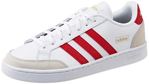 adidas Grand Court SE, Scarpe da Tennis Uomo, Ftwr White/Scarlet/Chalk White, 40 EU