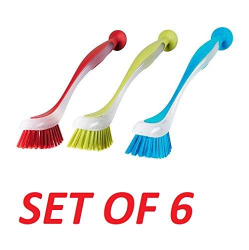 Ikea 301.495.56 Plastis Dishwashing Brush, Assorted Colors, Set of 6