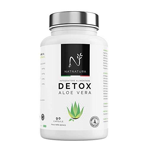 Detox Aloe Vera + finocchio. Disintossicazione del colon e del fegato. Dimagrante 100% naturale. Tossine di eliminazione naturalmente. 90 capsule vegetali.
