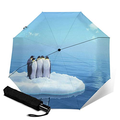 Penguin,Premium Umbrella Windproof - Compact Umbrella Automatic - Travel Umbrella Folding - Portable Umbrella Auto - Mens Travel Umbrella