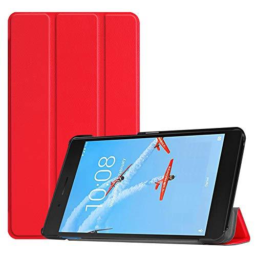 Hülle für Lenovo Tab E7 TB-7104F 7 Zoll Schutzhülle Tasche mit Standfunktion & Auto Sleep/Wake Funktion Rot