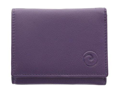 Mala Leather Colección Origin Monedero Compacto de Cuero con Protección RFID 3273_5 Púrpura