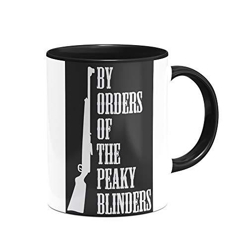 Caneca Seriado Peaky Blinders personalizada interior preta