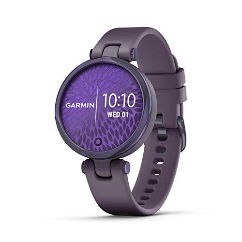 Garmin Lily Sport - Smartwatch Piccolo ed Elegante, 34 mm, Monitoraggio 24/7, App Fitness e Sport, Midnight & Deep Orchid