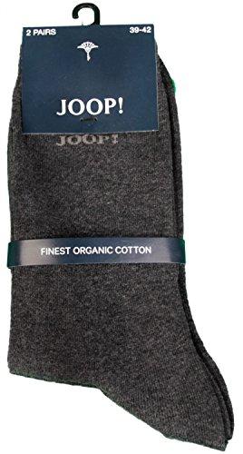 JOOP! Damen Socken 2 Paar, Basic Soft Cotton Sock 2-Pack, Einfarbig - Farbwahl: Farbe: Anthrazit | Größe: 39-42 (6-8 UK)