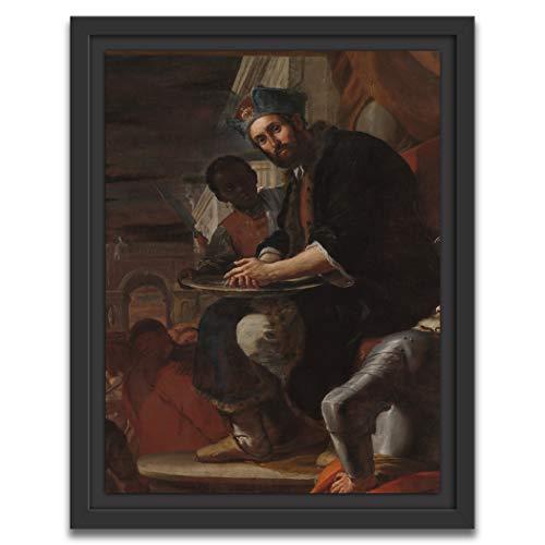 Printed Paintings Marco Americano (30x38cm): Mattia Preti - Pilato se lavó Las Manos