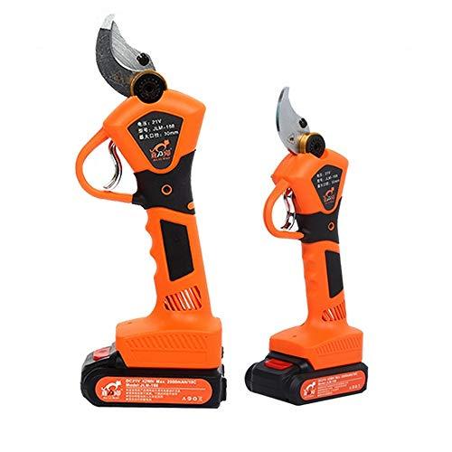 ningfulu101 Elektrische Gartenschere, elektrische Astschere, professionelle 21-V-Li-Ionen-Akku-Astschere, wiederaufladbare Gartenschere, 30-mm-Gartenschere Orange