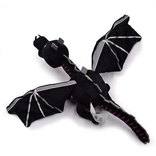 Plüschtier 60cm Meine Welt Ender Dragon Plüsch Spielzeug weiche schwarz Pp Baumwolle Drachen Spielzeug