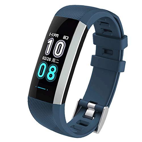 CXSD Pulsera inteligente para monitoreo del sueño, podómetro, fitness, deportes, pulsera inteligente adecuada para Android IOS Smart Bracelet (color azul)