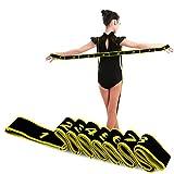 Bandes de Boucle d'exercice Bandes Latines Extensibles 15-20 kg Bandes élastiques de Yoga Pilates Résistance Fitness Bandes de Formation de Danse élastique Gymnastique (80cm Yellow)
