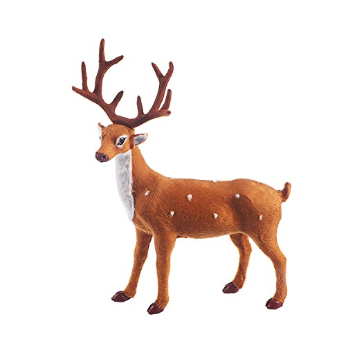 OULII Christmas Soft Toy Reindeer Simulation Standing Deer Elk Decoration 9.8' / 25cm