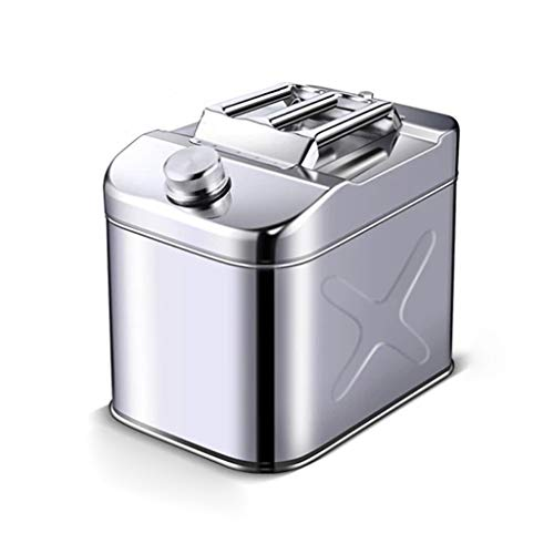 ZWB Gasolina Lata de Metal del Tanque de Gasolina de la Gasolina Puede Motocicleta de Gasolina Diesel de Emergencia Queroseno Tanque de Gas Que acampa de Almacenamiento de petróleo Can (Color : 10L)