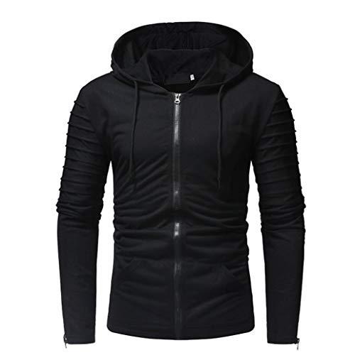 Männer Mantel Reißverschluss Hoodie Herbst Winterjacke Jacke Beiläufig Slim Fit Pullover Outwear Herren Hoodies Bluse