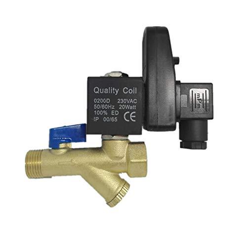 Precisión precisa 1/2' DN 15 OPT-B con temporizador de 2 maneras de gas del tanque de agua electrónico automático Válvula de drenaje del compresor de aire Cerámica en miniatura