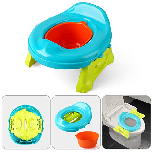 BeebeeRun Potty Training Toilet 2 in 1 Toilet Seat Toddler Foldable Anti-Slip Design Weight Bearing 35KG
