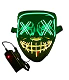 Máscara LED de purga de Halloween, con luz intermitente, máscara de purga de miedo, 3 colores y 3 modos