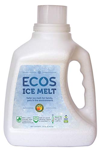 ECOS Ice Melt Magnesium Chloride Pellets Pet Paw, Plant and Concrete Safe, 6.5 lbs. Jug by Earth Friendly Products (Pack of 4)