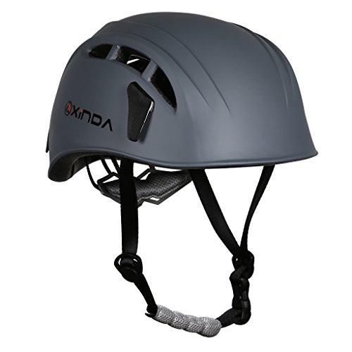 MagiDeal, Casco di sicurezza per arrampicata, albero, grotte, kayak, per salvataggio, grigio