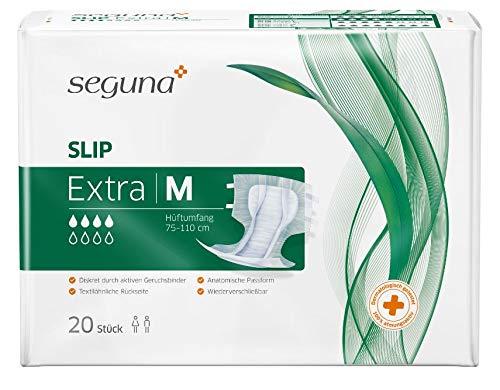 SEGUNA SLIP Extra Medium - für schwere Inkontinenz und Doppelinkontinenz - 1 Karton = 4 x 25 = 100 Stück