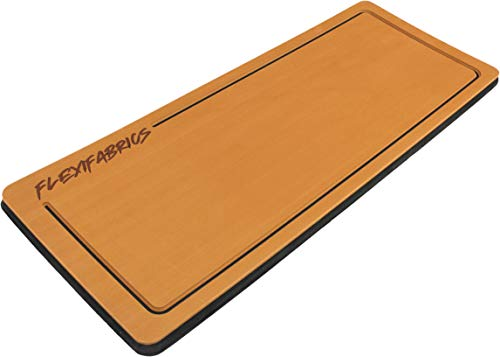 Flexifabrics Marine Boating Helm Pad | 3M Adhesive Backing | 25mm Foam | Lasting Foam for Anti-Fatigue and Non-Slip Boating Mat (Cappuccino, Large)