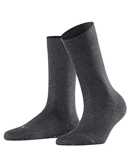 FALKE Damen Socken Sensitive London - 94% Baumwolle, 1 Paar, Grau (Anthracite Melange 3089), Größe: 39-42