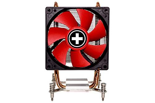 Xilence I402 Processeur Refroidisseur 9,2 cm Noir, Rouge, Argent