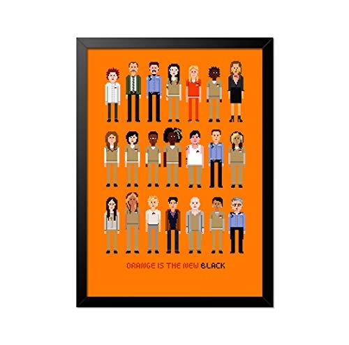 Quadro Poster Orange is the new Black Pixel 33x23cm