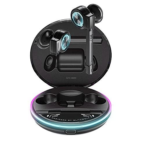 Fone de ouvido Gamer Blitzwolf® BW-FLB3, com Latência Ultra Baixa, Graves Acentuados, Bluetooth 5.0, Bateria de até 5 horas e Microfone Dedicado. Já no Brasil!