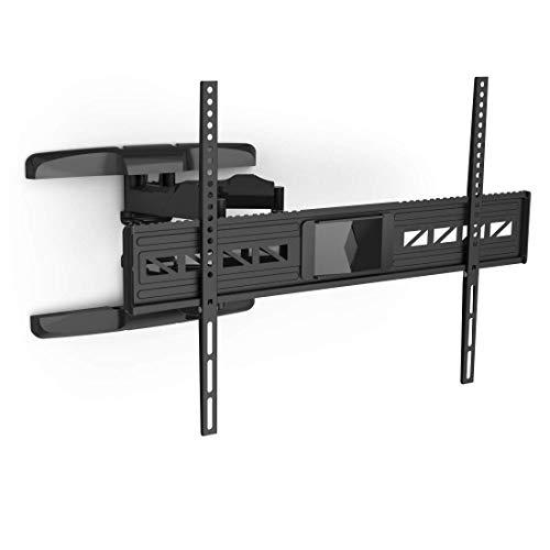 Hama TV Wandhalterung für große Fernseher 47 bis 90 Zoll (119 - 229 cm, VESA bis 800 x 600, vollbeweglich, neigbar, schwenkbar, extrem belastbar, Schwingungsdämpfer für klaren Sound) schwarz