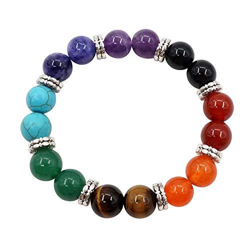 Mayting 10mm Pulsera de Piedra Natural Yoga Equilibrio Reiki Curación Lucky Charm Regalos Pulsera Chakra