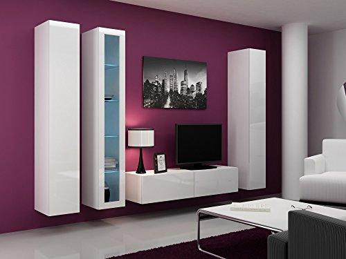 Wohnwand VIGO 15, Anbauwand, Wohnzimmer Möbel, Hochglanz !!! Mit LED Beleuchtung !!!